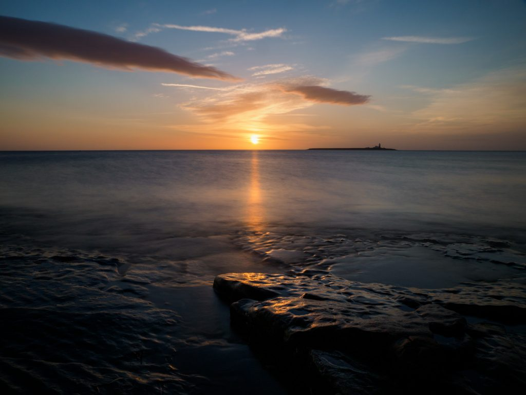Coquet Island at Sunrise, photographed within a few yards of Compass House